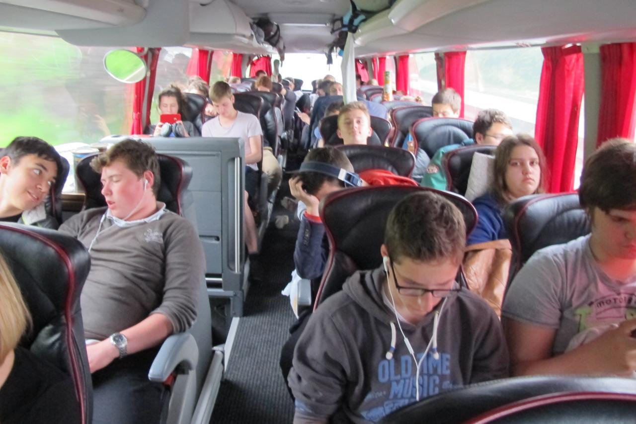 30.5.im Bus in Frankreich
