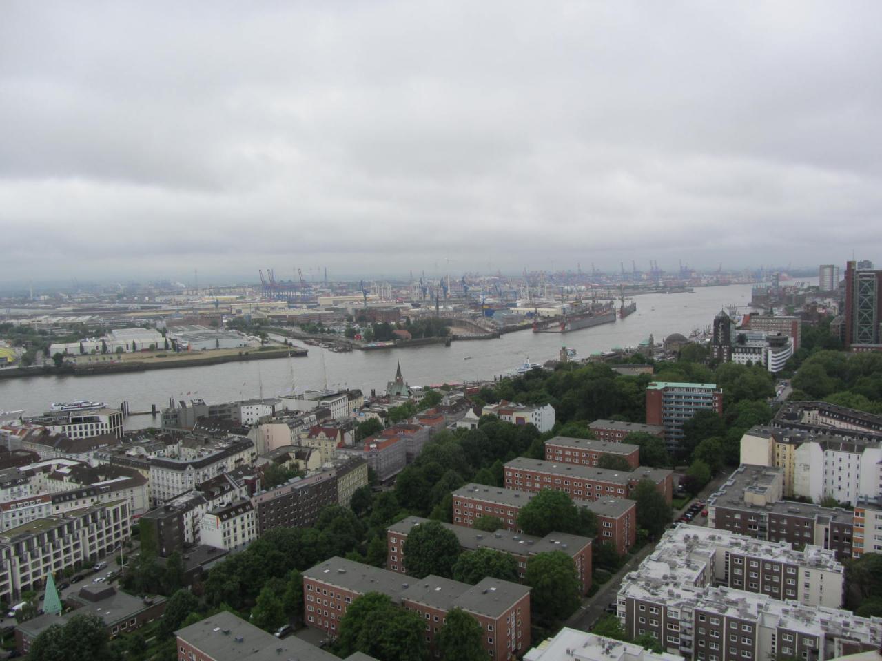 Vue sur le port de Hamburg
